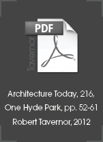 Architecture Today, 216 One Hyde Park