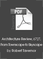 Architecture Review, 6727, From Townscape to Skyscape by Robert Tavernor