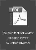 The Architectural Review, Palladian Revival by Robert Tavernor